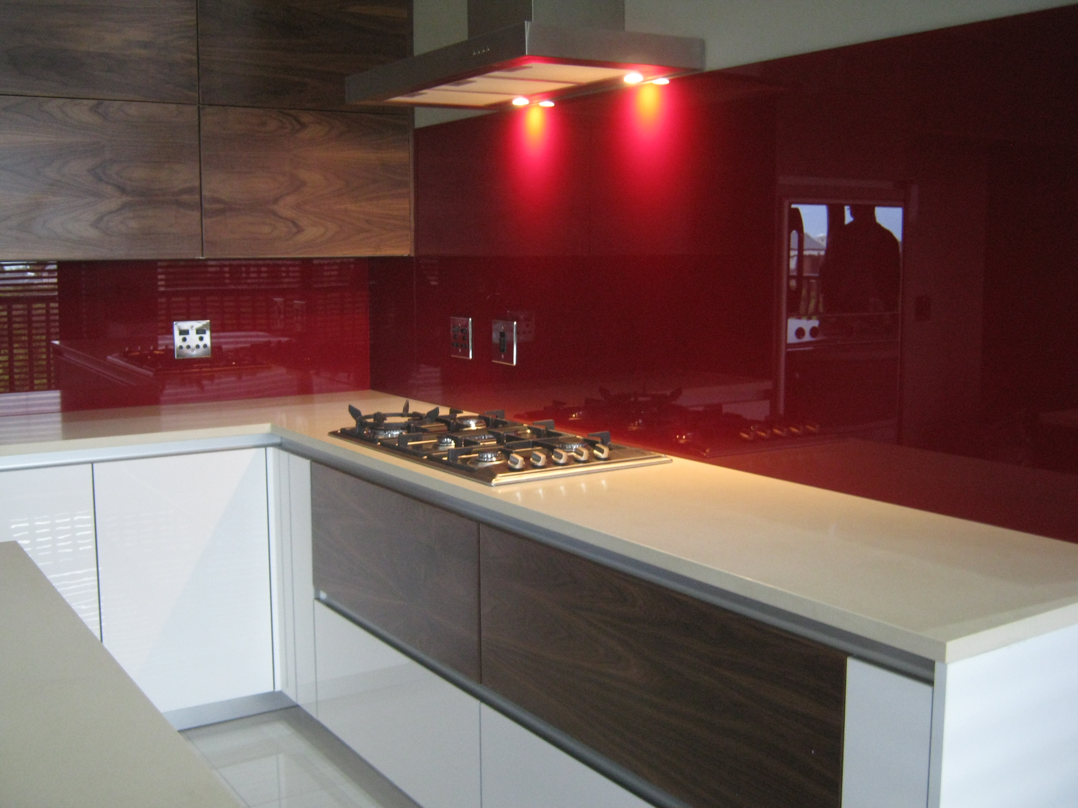 red glass splashback cape town 1